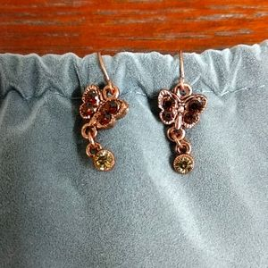Rose gold butterfly 🦋 earrings